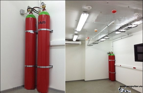 Пожаротушение серверных комнат и крупных дата-центров