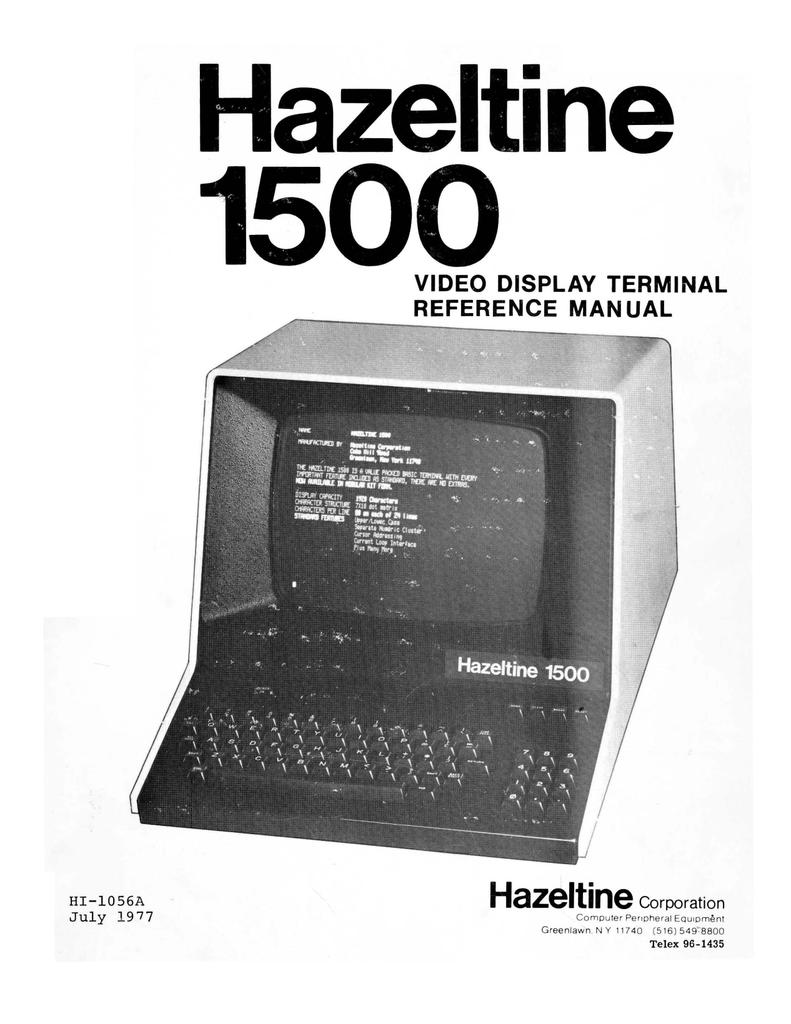 Hazeltine 1500