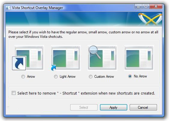 Vista Shortcut Overlay Remover