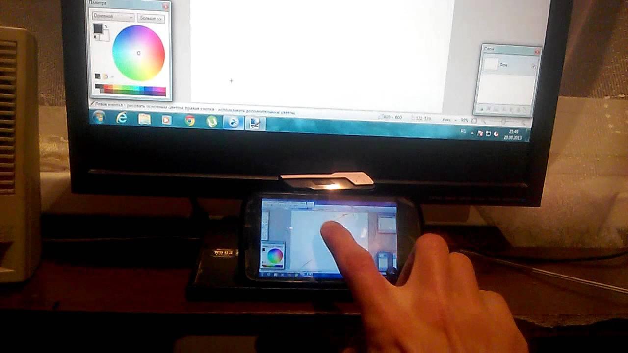 Графический планшет из андроид устройства