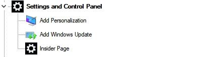 Settings and Control Panel (Параметры и Панель управления) Winaero Tweaker