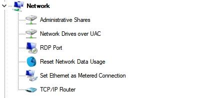 Network (Сеть) Winaero Tweaker