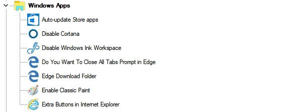 Windows Apps (Приложения магазина Windows) Winaero Tweaker