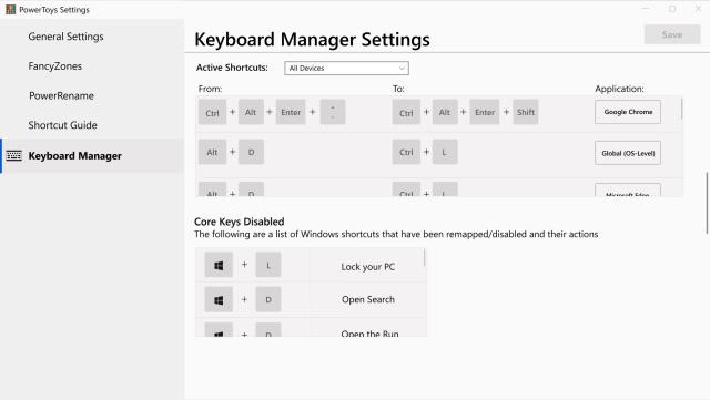 Keyboard Shortcut Manager PowerToy