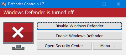 Defender Control v1.7