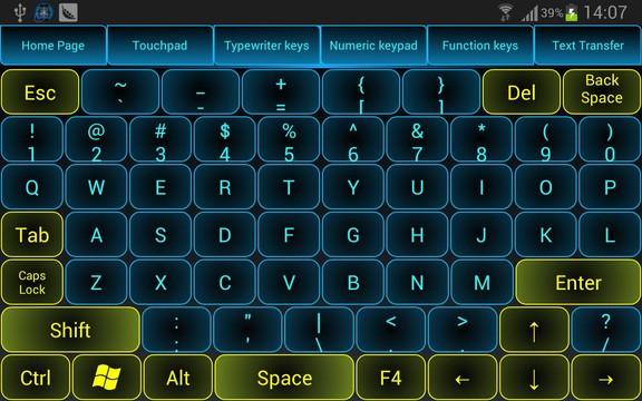 Приложение Monect клавиатура
