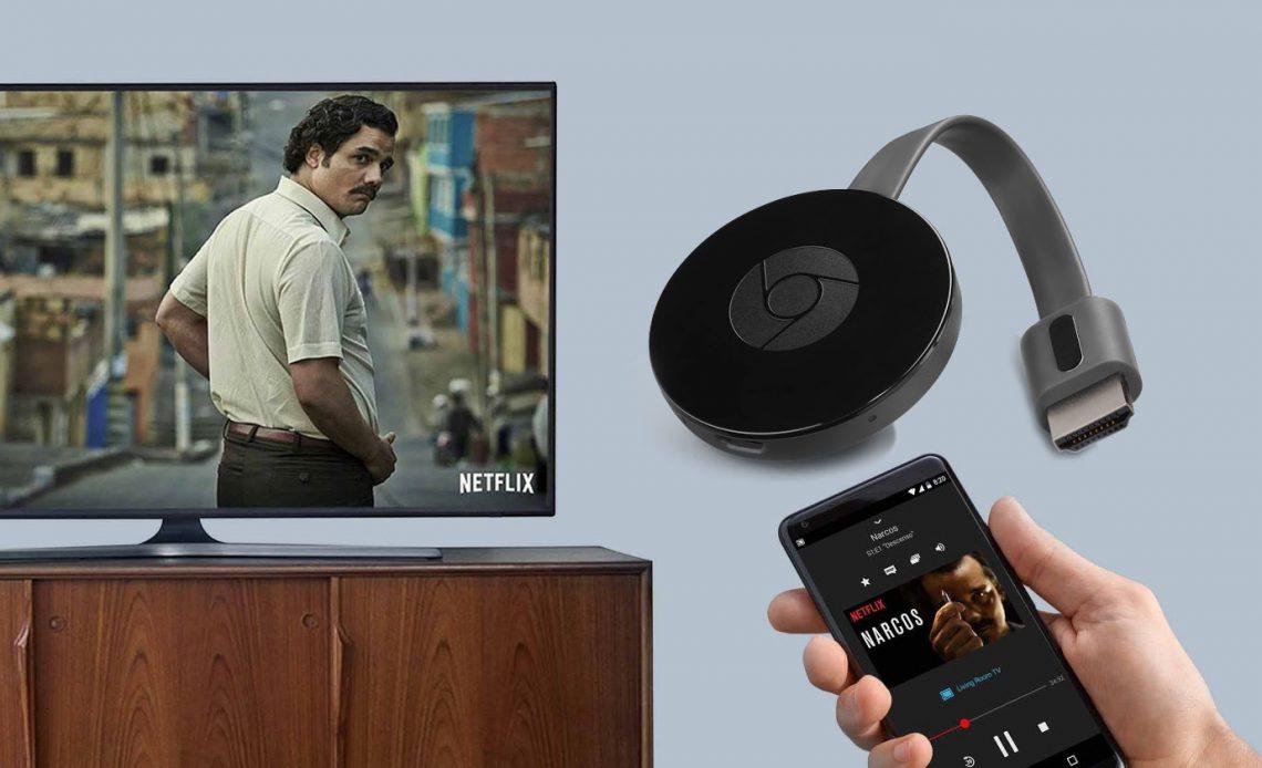 передать изображение с телефона на телевизор с помощью Chromecast