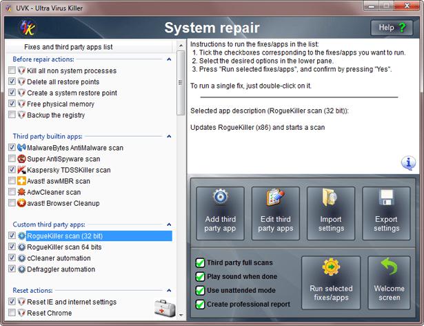 UVK System Repair