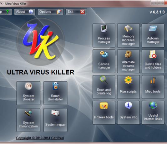 программа восстановления Windows Ultra Viru Killer