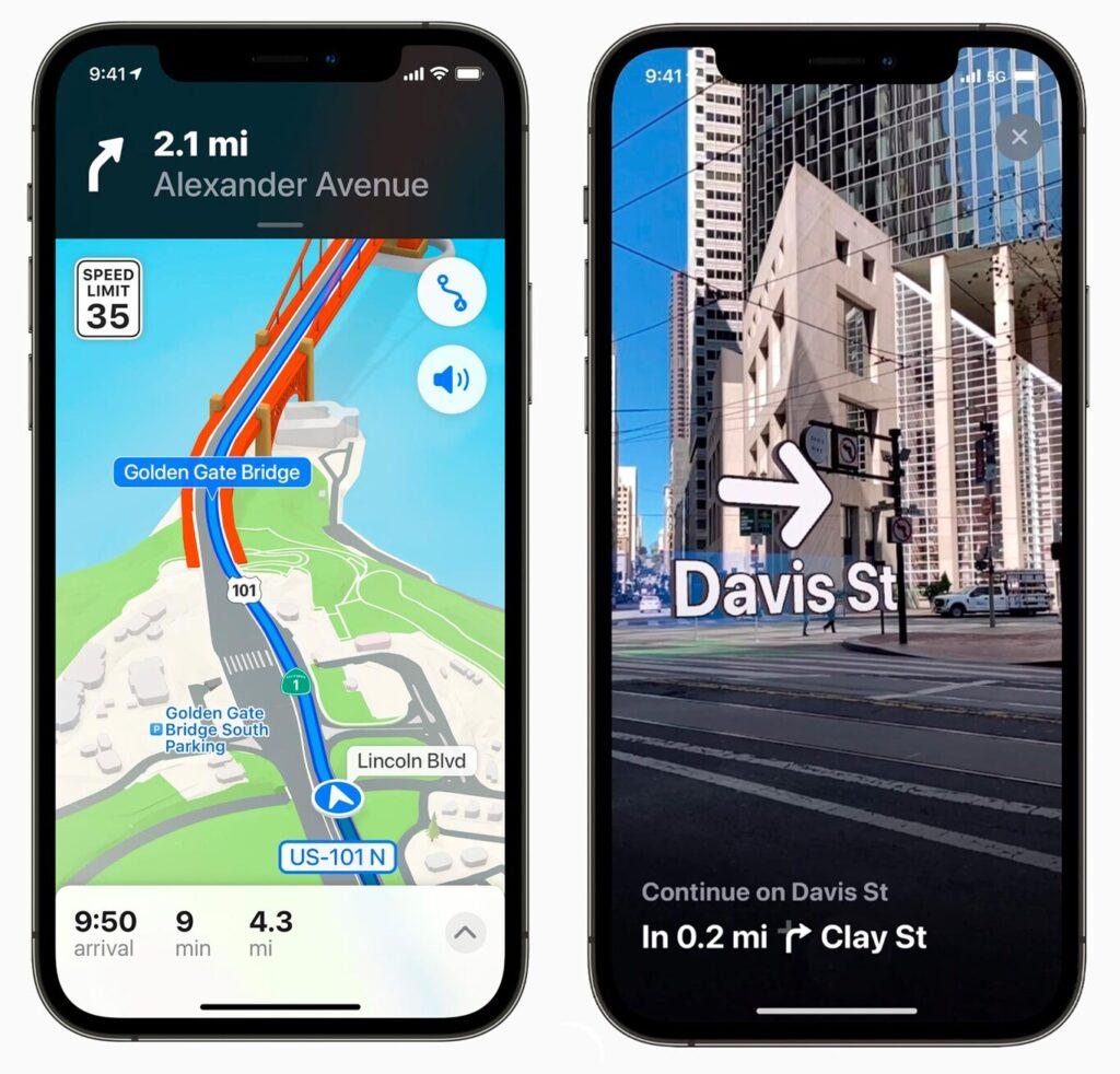Apple Maps дополненная реальность