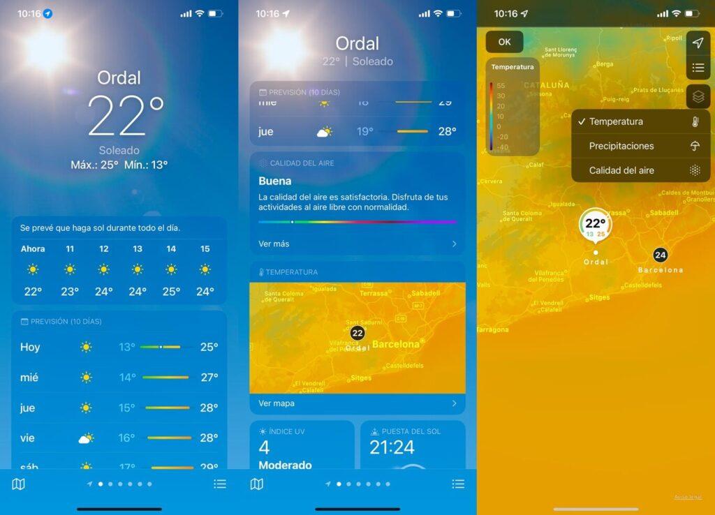 Погода в iOS 15