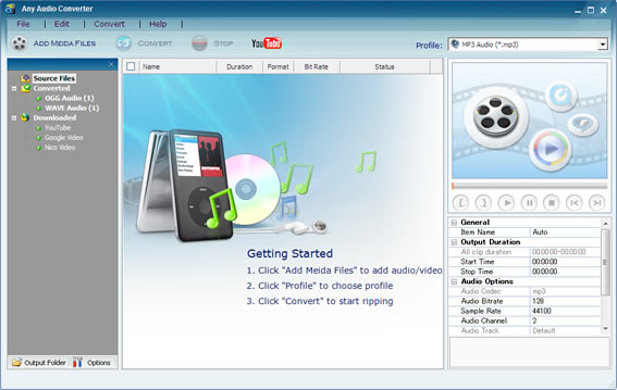 audio converter, any audio converter, free audio converter