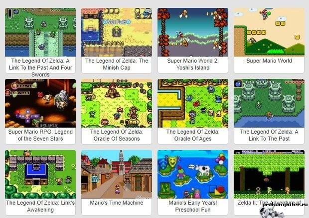 Классические игры прямо в браузере. Retro Games