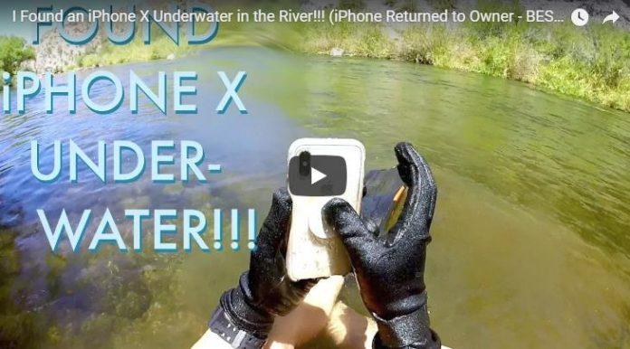 iPhone X остался рабочим после двух недель на дне реки